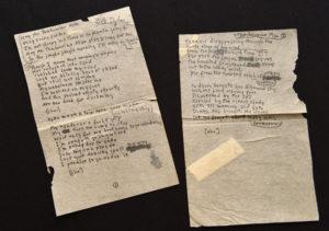 Bob Dylan's handwritten lyrics for 'Mr Tambourine Man'. Pic: Getty